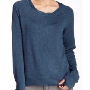 H by Bordeaux Teal Zip Back Fleece Sweatshirt
